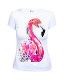 Яркая красивая женская футболка с принтом Фламинго оптом и в розницу, фото 2