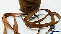 Косая бейка коричневого цвета