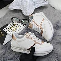 Белые кроссовки с перфорацией 38р, фото 1