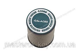 Galaces 0.55мм коричневая (S025) нить круглая вощёная по коже