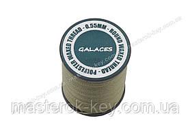 Galaces 0.55мм папоротник (S026) нить круглая вощёная по коже