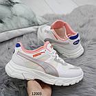 Белые женские кроссовки puma копия, отлично подойдут для тренировок
