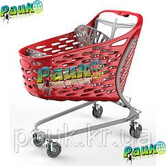 Тележка торговая 130 л Samba Basic 1016х601х1025 мм , пластиковая торговая тележка на колесах в магазин