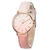 """Стильные женские наручные часы, расцветка омбре """"Оmbre""""  (розово-белый)"""