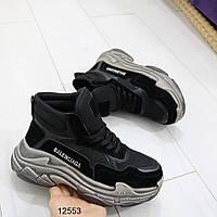 Женские осенние кроссовки в черном цвете, фото 1