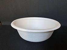 Тарелка одноразовая бумажная Чинет суповая 400мл белая 125шт