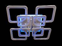 Лед люстра квадратная потолочная с пультом управления цвет белый 190 Ват Diasha&8060/4+4WH LED 3color dimmer