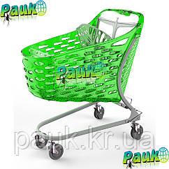 Тележка торговая 130 л Samba Glamour 1016х601х1025 мм , пластиковая торговая тележка на колесах для покупок