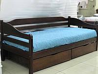 Кровать деревянная односпальная с ящиками Волна оригинал 80х190