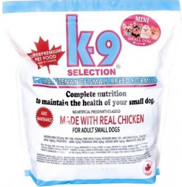 K-9 Селекшенс Смол Брид Мейнтенс Selection Small Breed Maintenance сухой корм для собак мелких пород, 5 кг