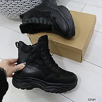 Зимние женские ботинки в черном цвете 36 р, фото 1