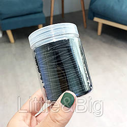 Набор резинок для волос. Черный. Большие 100 шт.