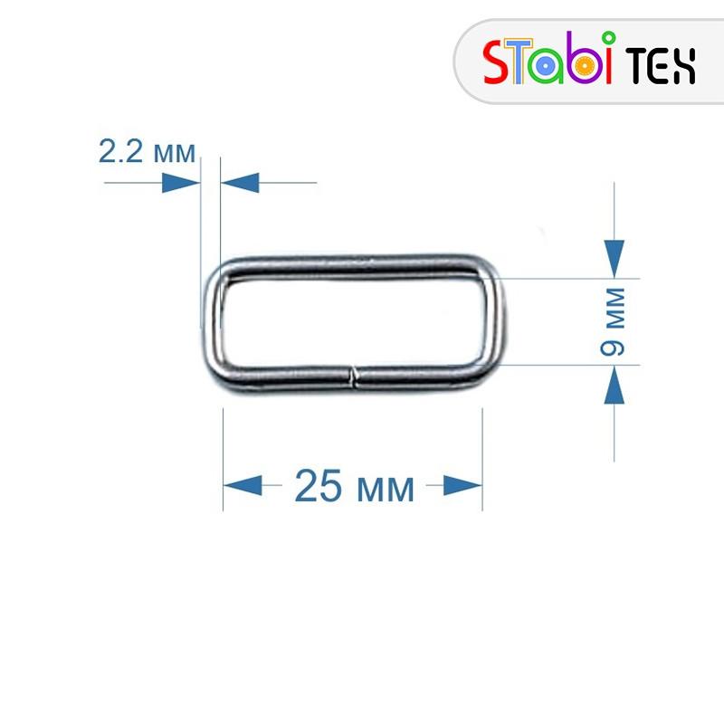 Рамка прямоугольная 2.5см (25х9х2.2мм)