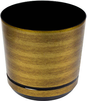 Горщик квітковий пластиковий d160мм-07,v-2,5 л руді золото(10)