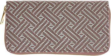 Гаманець жін. шкірзам+тканина №155(12)(120)
