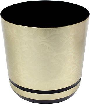 Горщик квітковий пластиковий d210мм-41,v-6,5 л золотий візерунок(10)
