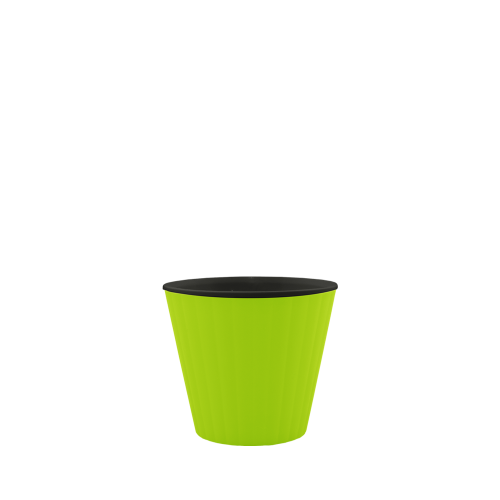 Горщик квітковий Ібіс 15,7*13, оливковий, чорний, Україна