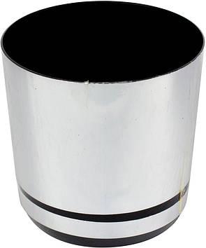 Горщик квітковий пластиковий d125мм-15/0711,v-1,4 л срібло(10)