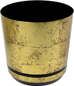 Горщик квітковий пластиковий d210мм-12a/896,v-6,5 л мармурове золото(10)