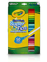 Набір фломастерів Crayola Super Tips Markers Washable Markersмаркерів 50 штук (60121500)