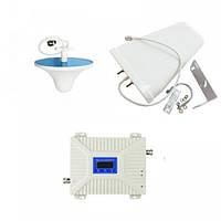 Комплект антенн с 2G/3G/4G усилителем мобильной связи и интернета 900/2100/2600 МГц