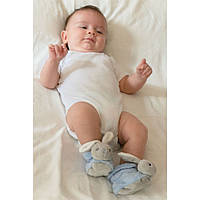 Дитяче взуття Kaloo Пінетки Plume - Кролик блакитний 0-3 міс.