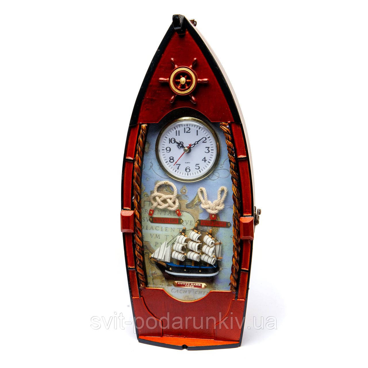 """Ключница настенная часы """"Шлюпка"""""""