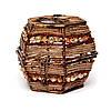 Шкатулка для драгоценностей из бисера коричневая SА-4