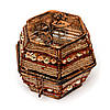 Шкатулка для драгоценностей из бисера коричневая SА-4, фото 2