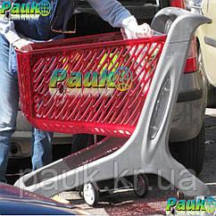 Тележка покупательская160 л Midi Basic 1060х595х1060 мм, пластиковая торговая корзина на колесах для покупок