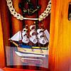 """Ключница на стену """"Морской светильник с ручкой и штурвалом"""" S29121, фото 2"""