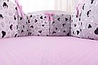 Комплект дитячої постільної білизни «Міккі з рожевим бантом» з бортиками на 4 сторони, №388, фото 3