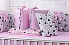 Комплект дитячої постільної білизни «Міккі з рожевим бантом» з бортиками на 4 сторони, №388, фото 2