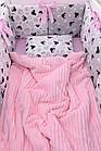 Комплект дитячої постільної білизни «Міккі з рожевим бантом» з бортиками на 4 сторони, №388, фото 4