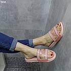 Силиконовые розовые женские пляжные шлепки
