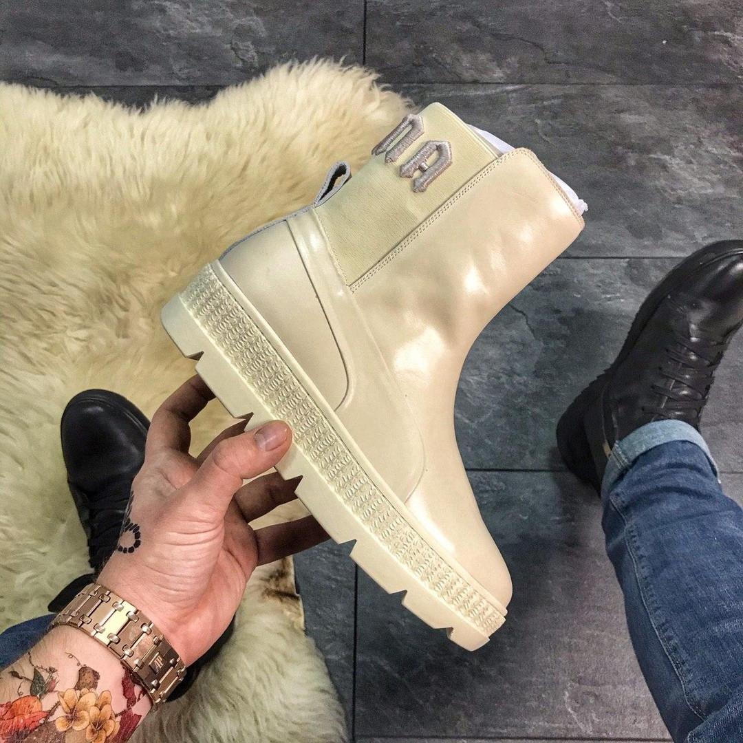 Женские ботинки Puma By Rihanna Chelsea Vanila, женские ботинки пума риана челси