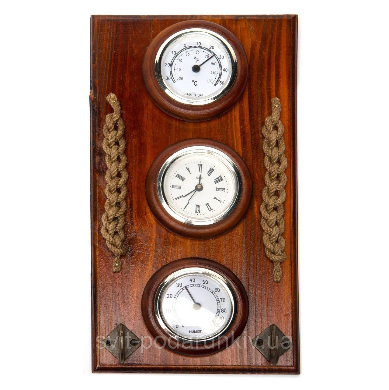 Настенные часы с термометром и гигрометром N010