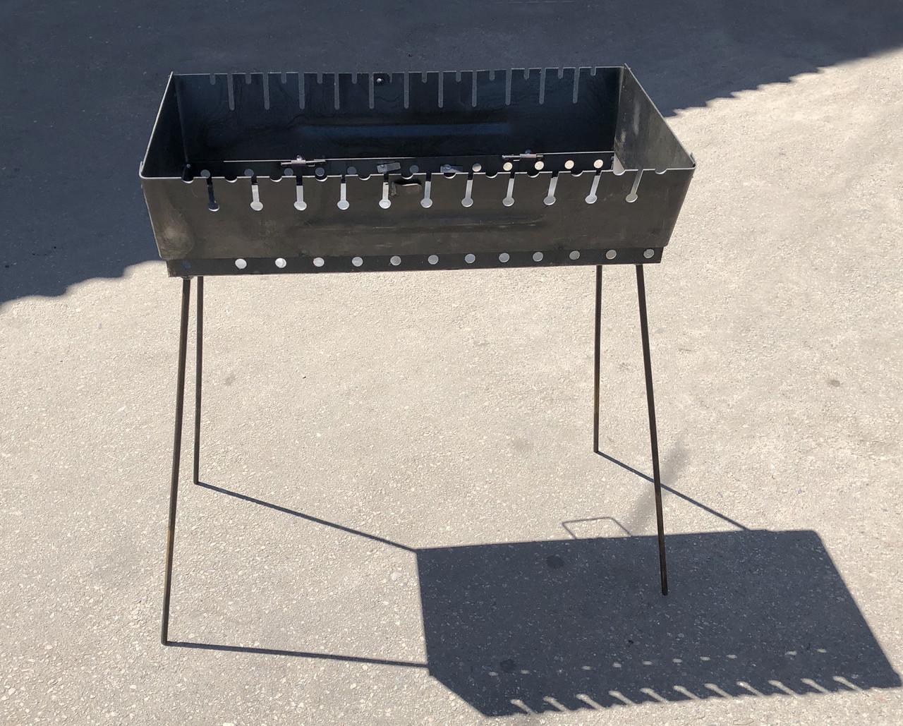 Переносний Мангал валізу Угольок 12 шампурів 2 мм