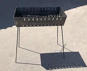 Мангал переносной чемодан Уголёк 12 шампуров 2 мм, фото 2