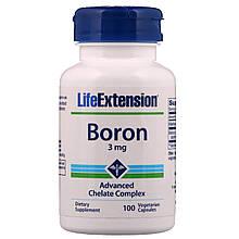 """Бор Life Extension """"Boron"""" с витамином В2, 3 мг (100 капсул)"""