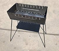 Мангал переносной чемодан Уголёк 10 шампуров 2 мм