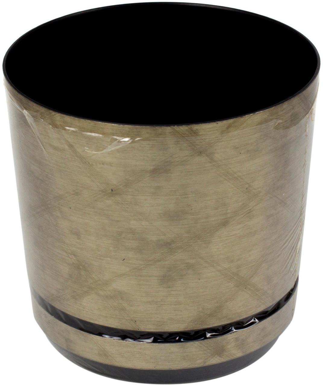 Горщик квітковий пластиковий d125мм-40,v-1,4 л мідний візерунок(10)