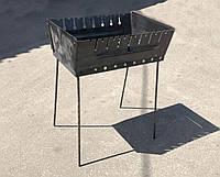 Мангал переносной чемодан Уголёк 8 шампуров 2 мм