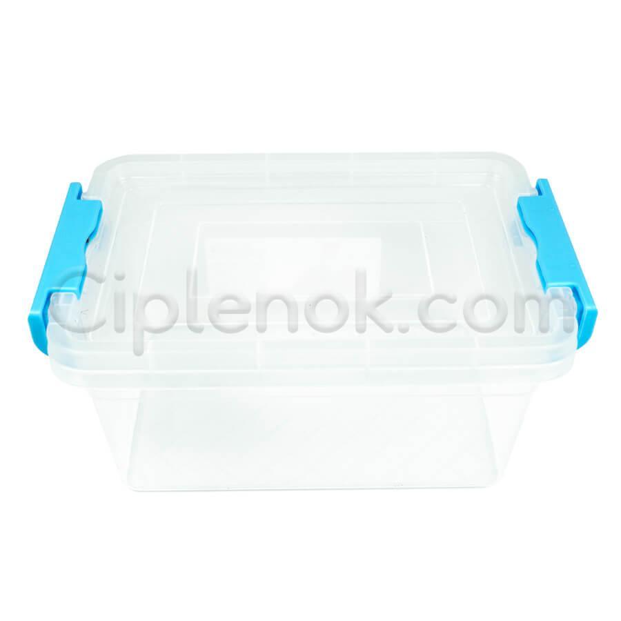 Пластиковый контейнер для продуктов прямоугольный 1,7 л на защелках