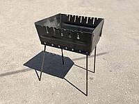 Мангал переносной чемодан Уголёк 6 шампуров 2 мм