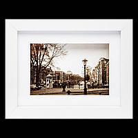 Картина  с изображением в ретро стиле 18*23 B-77-39 (белый)