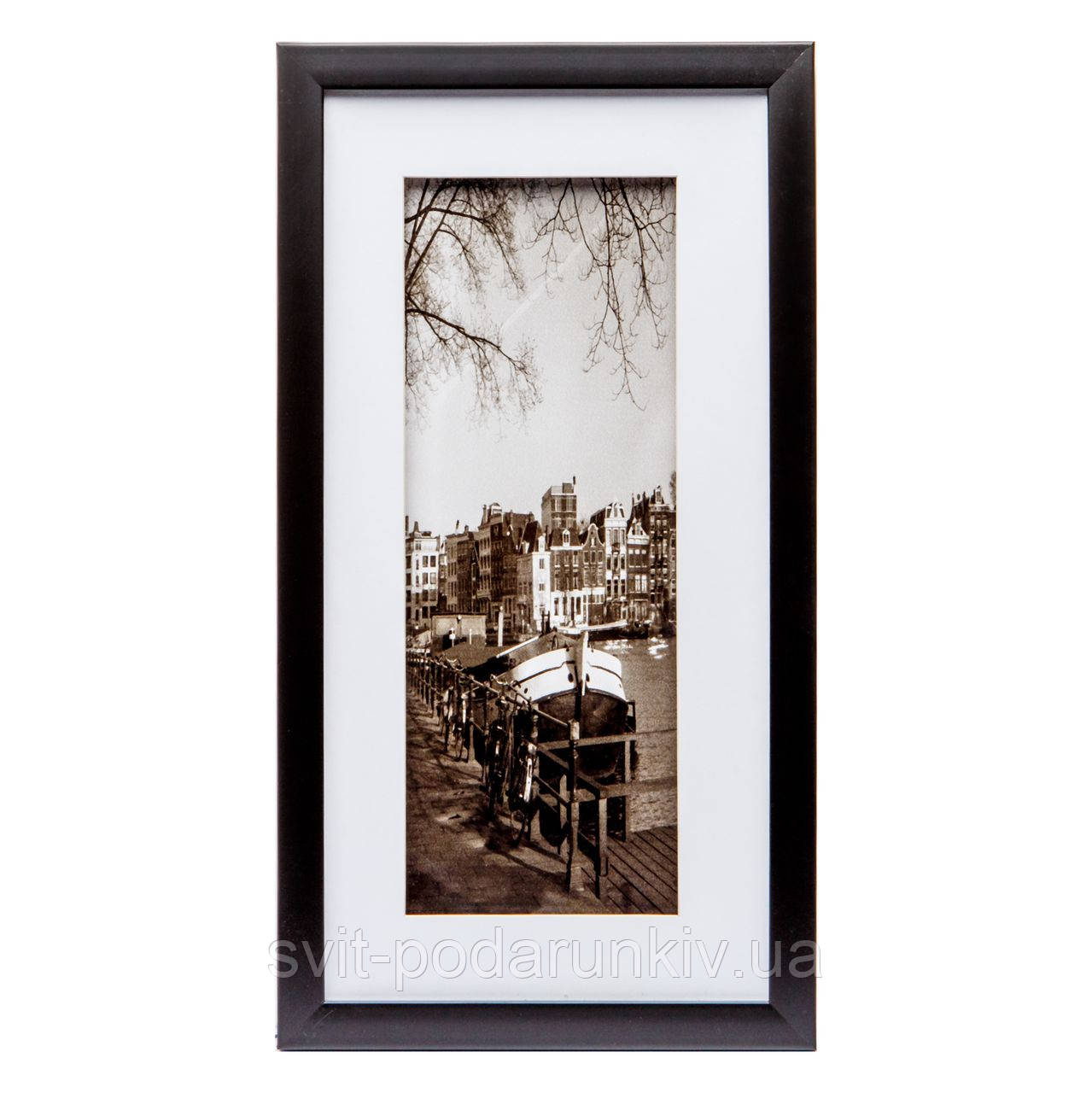 Картина в черно-белом ретро стиле 23*43 B-80-01 (черный)