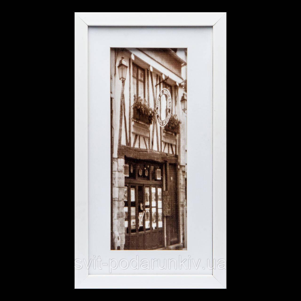Подарочная картина в ретро стиле 23*43 B-80-02 (белый)