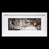 Черно-белая картина для интерьера ретро 23*43 B-80-15 (белый)