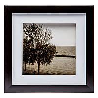 Картина для интерьера в черно-белом ретро стиле 23*23 B-81-03 (черный)